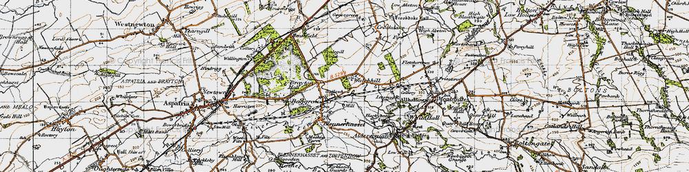 Old map of Aldersceugh in 1947