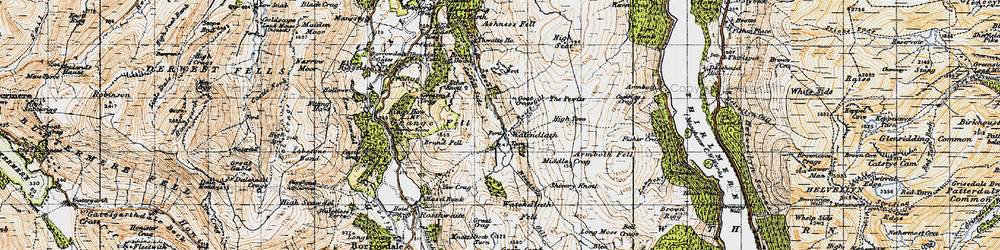 Old map of Launchy Gill in 1947