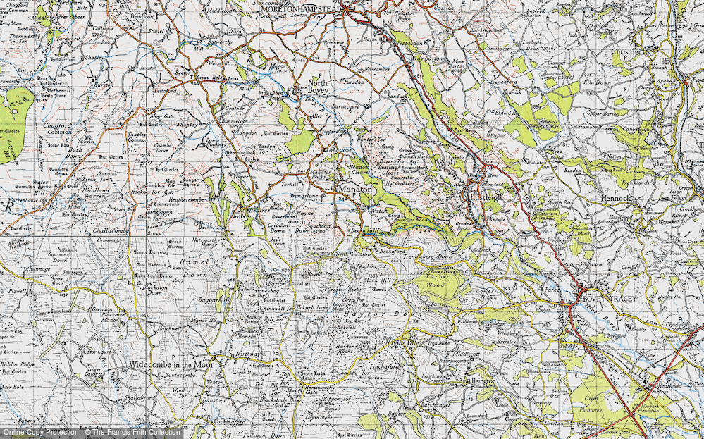 Old Map of Historic Map covering Leighon in 1946