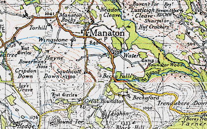 Old map of Leighon in 1946