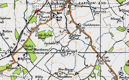 Old map of Woodstone in 1946