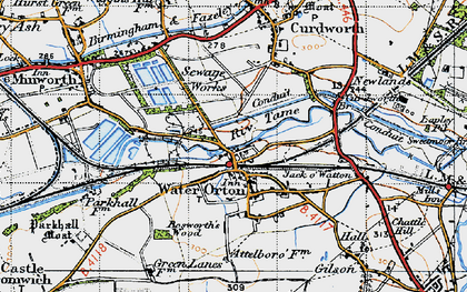 Old map of Water Orton in 1946