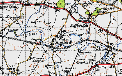 Old map of Bacon's Ho in 1946