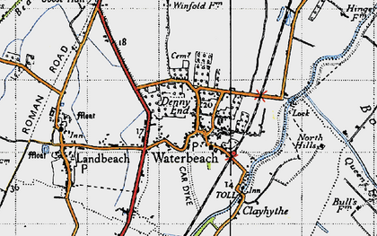 Old map of Waterbeach in 1946