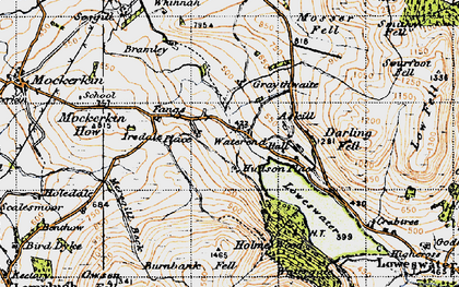 Old map of Askill Knott in 1947