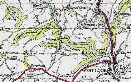 Old map of Watergate in 1946