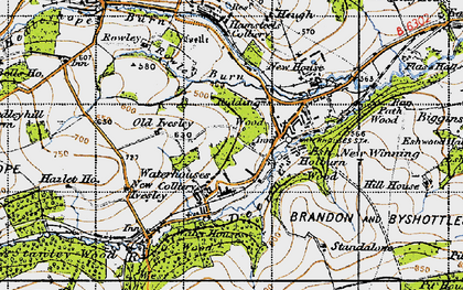Old map of Baal Hill in 1947