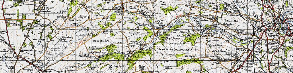 Old map of Wooley Hill in 1947