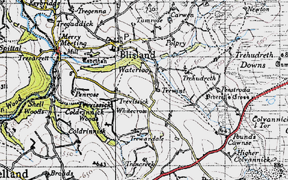 Old map of Waterloo in 1946