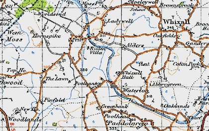 Old map of Lawn, The in 1947