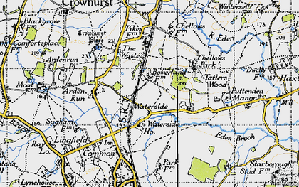 Old map of Waterside in 1946