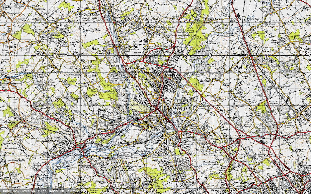 Old Map of Watford, 1946 in 1946