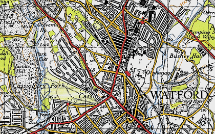 Old map of Watford in 1946