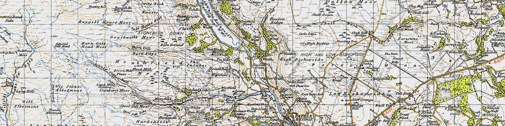 Old map of Wath in 1947