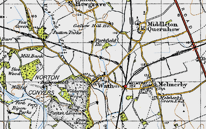 Old map of Wilderness Wood in 1947