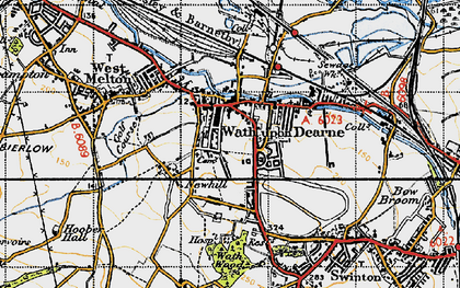 Old map of Wath Upon Dearne in 1947