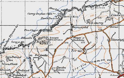Old map of Aberdinas in 1946