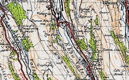 Old map of Waunlwyd in 1947