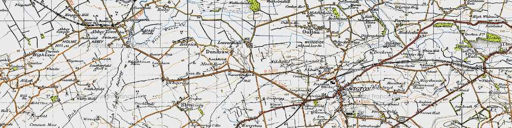 Old map of Aikhead in 1947