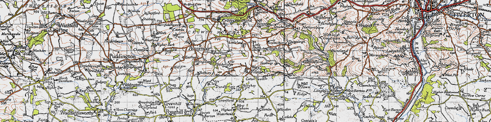 Old map of Westway in 1946