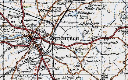 Old map of Yockings Gate in 1947