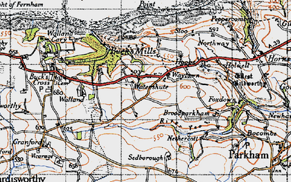 Old map of Limebury in 1946