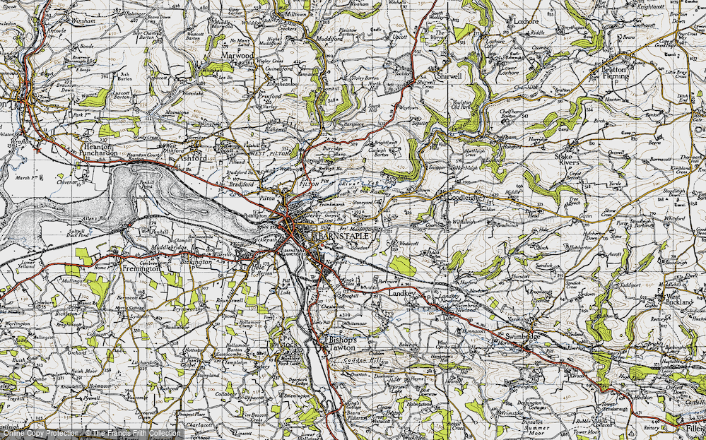 Old Map of Historic Map covering Lilly in 1946