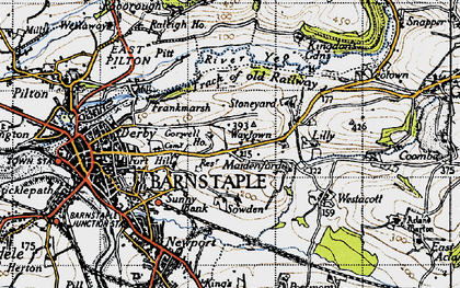 Old map of Lilly in 1946