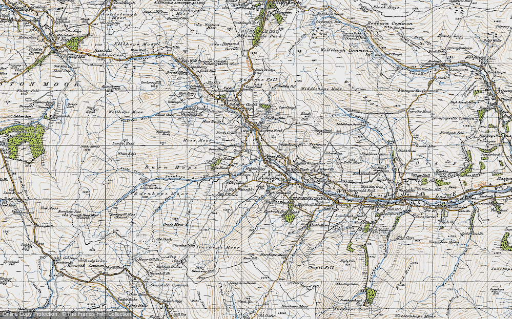 Old Map of Wearhead, 1947 in 1947