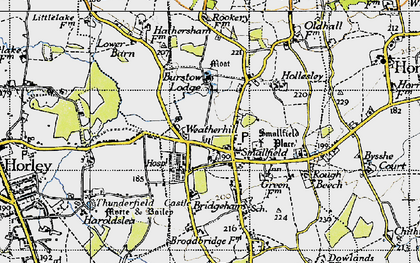 Old map of Weatherhill in 1946