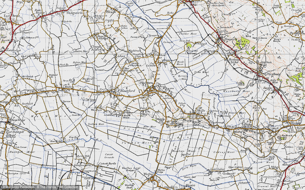 Old Map of Historic Map covering Lascot Hill in 1946