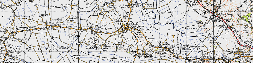 Old map of Wedmore in 1946
