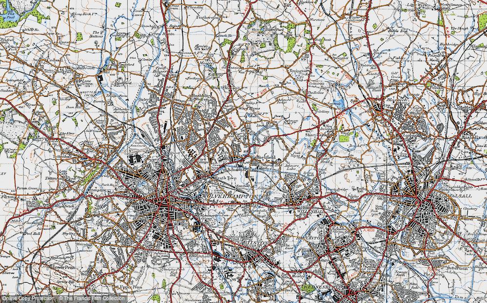 Old Map of Wednesfield, 1946 in 1946