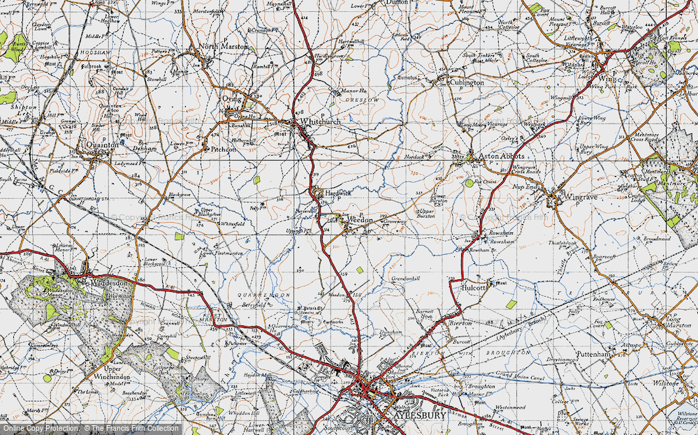 Old Map of Weedon, 1946 in 1946