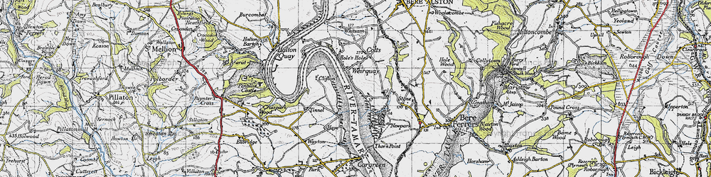 Old map of Tinnell in 1946