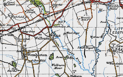 Old map of Tilehouse Br in 1947