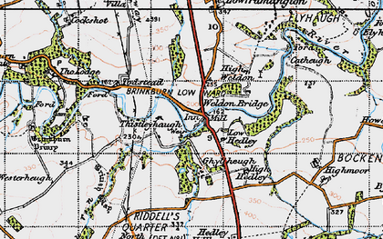 Old map of Todstead in 1947