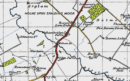 Old map of Yokegate in 1947