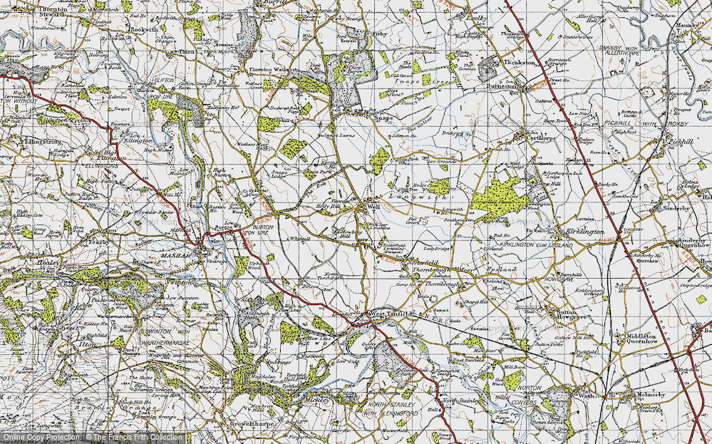 Old Map of Historic Map covering Langwith in 1947