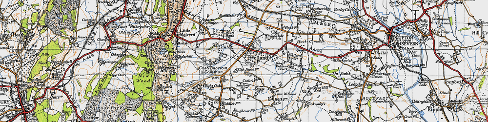 Old map of Welland in 1947