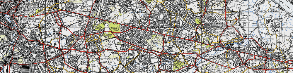 Old map of Welling in 1946