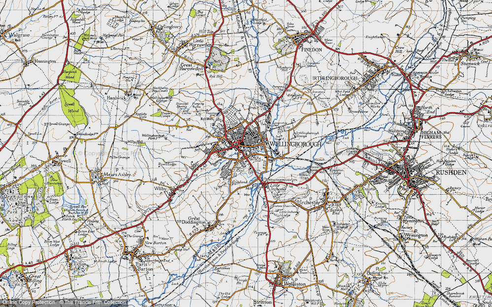 Old Map of Wellingborough, 1946 in 1946