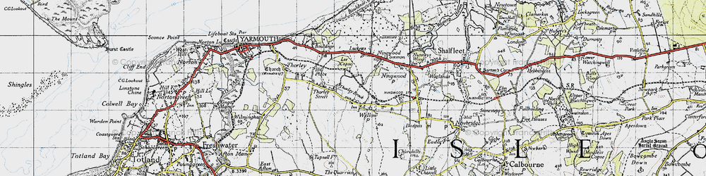 Old map of Lee Copse in 1945