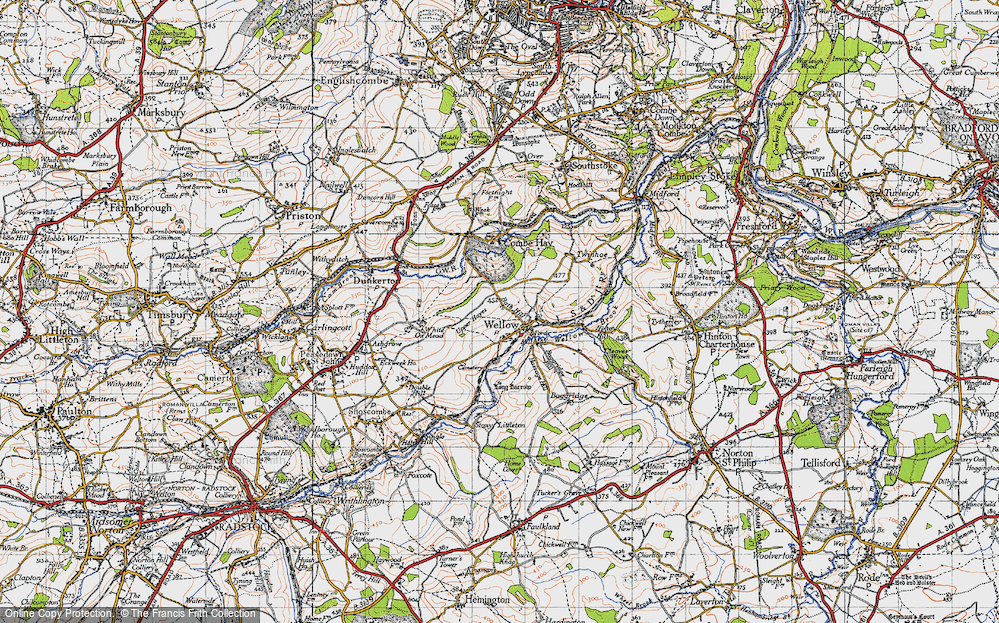 Old Map of Wellow, 1946 in 1946