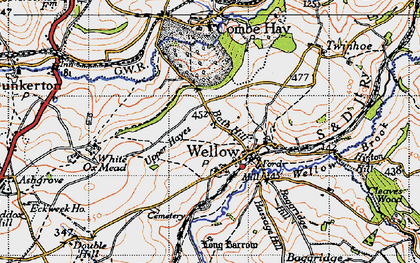 Old map of Wellow in 1946