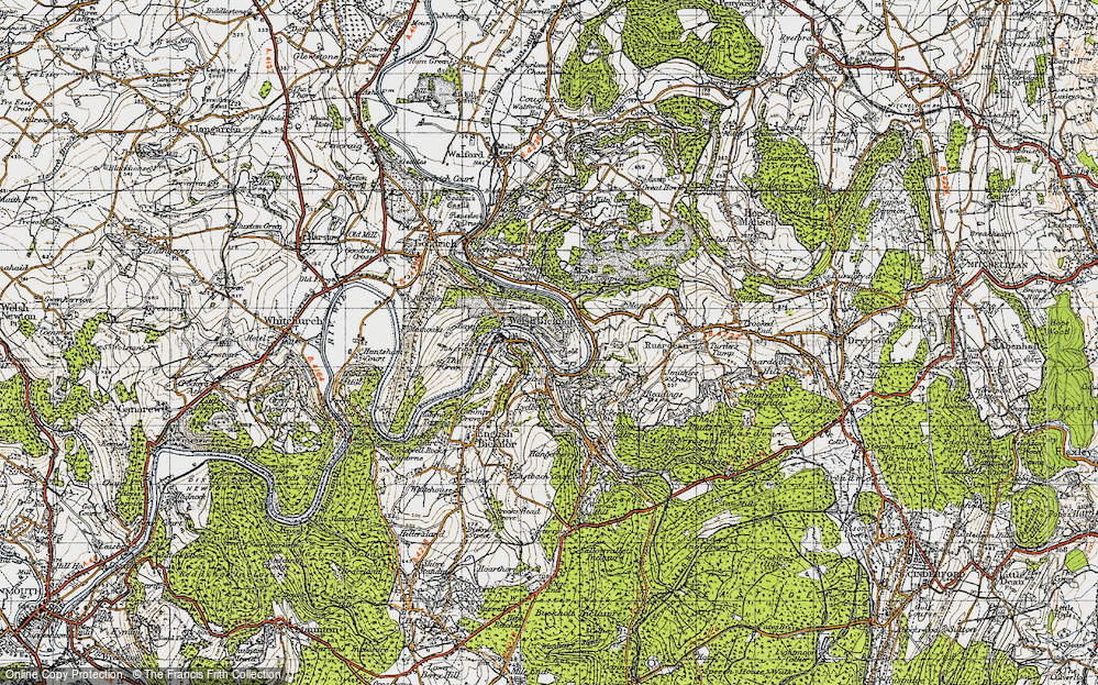 Old Map of Welsh Bicknor, 1947 in 1947