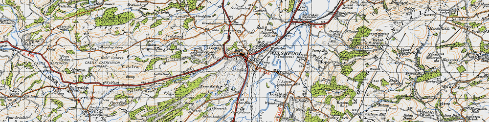 Old map of Welshpool in 1947