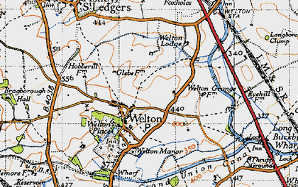 Old map of Welton in 1946