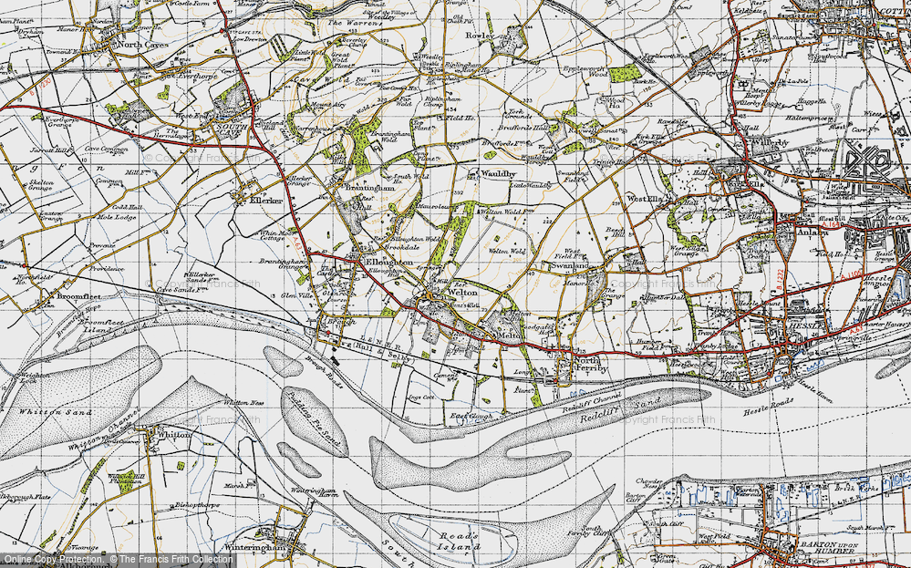 Old Map of Welton, 1947 in 1947