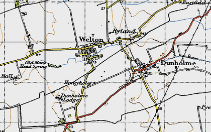 Old map of Welton in 1947